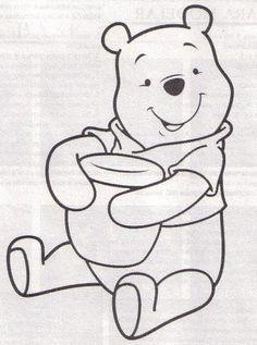 Resultado De Imagen Para Moldes De Winnie Pooh Y Sus Amigos En Foami Libro De Colores Moldes De Dibujos Patrones De Apliques