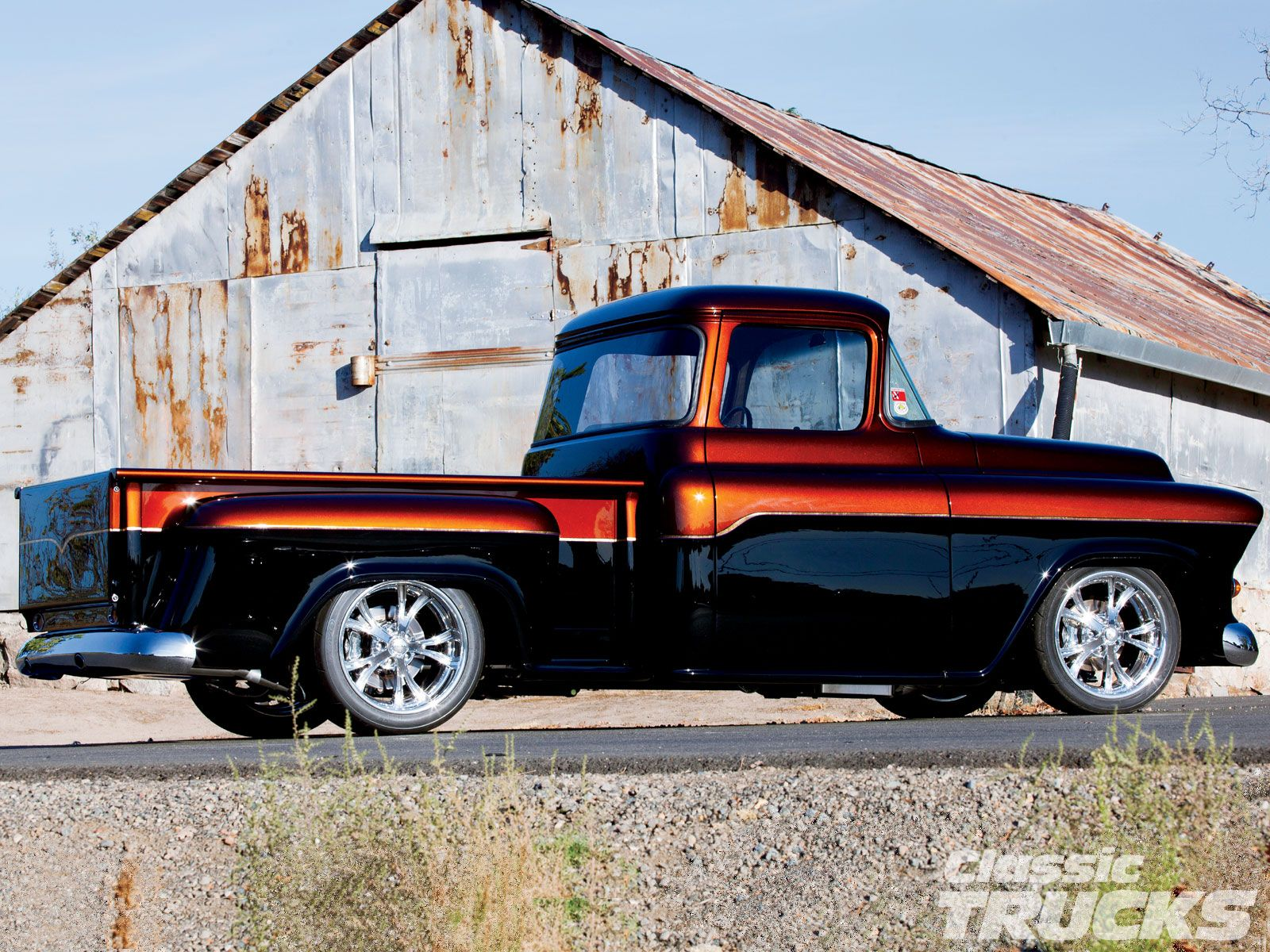 1955 chevrolet hot rod truck pictures to pin on pinterest - 1955 Chevy Truck 1955 Chevrolet Truck Passenger Side