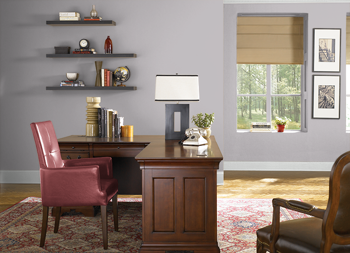 Behr FRENCH LILAC(PPU16-10) Might be the makeup room color ...