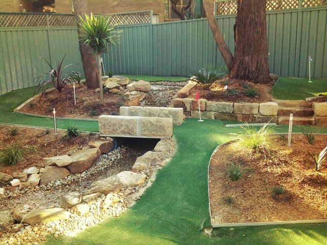 Backyard Golf Course Design find this pin and more on my backyard mini golf course Backyard Miniature Golf Course Large And Beautiful Photos Photo To Select Backyard Miniature Golf Course