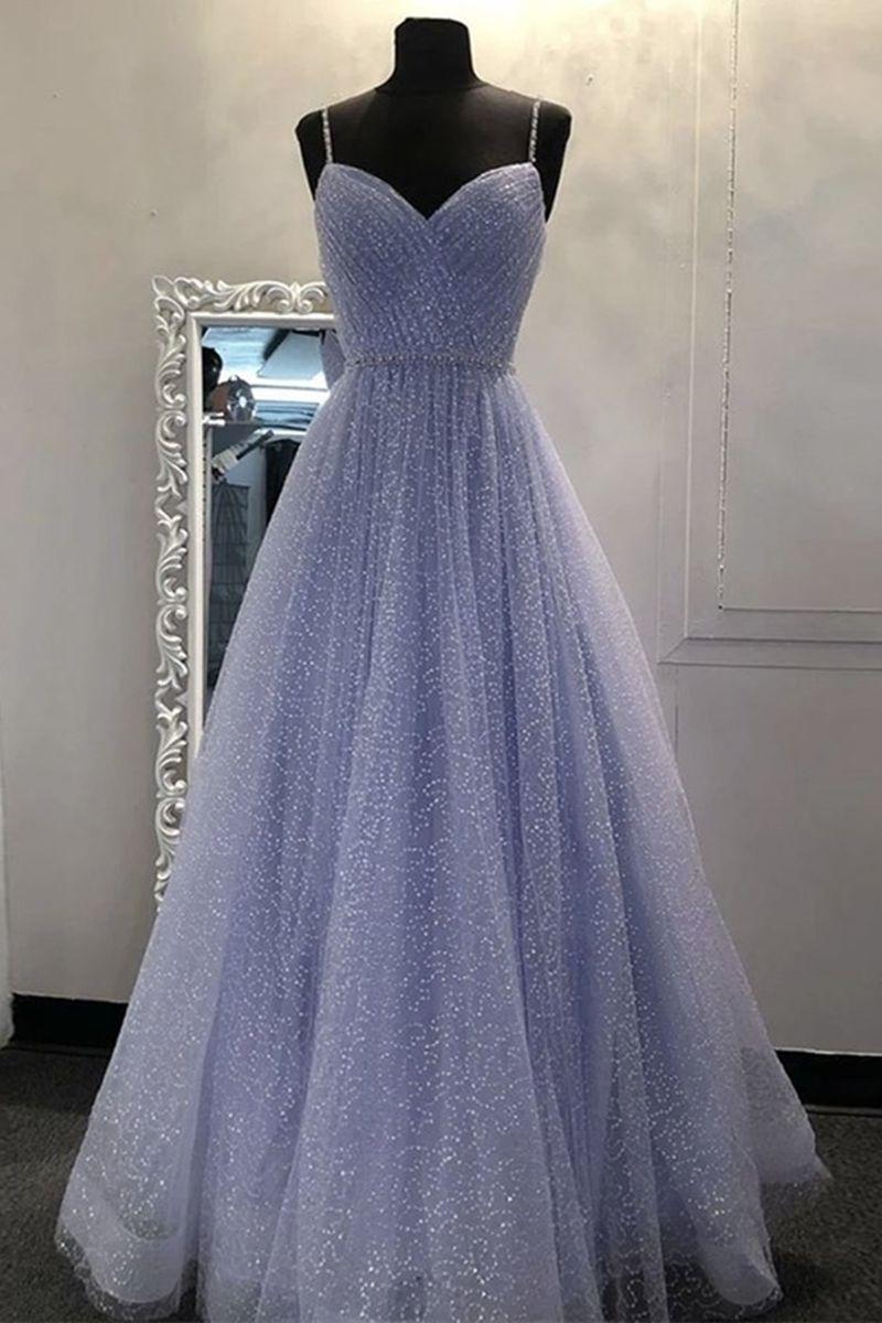 Shiny A Line V Neck Sequins Lilac Long Prom Dress Lilac Lavender Formal Graduation Evening Dress Sparkly Party Dress Prom Dresses Sparkly Prom Dresses Long Sparkly Prom Dresses [ 1200 x 800 Pixel ]