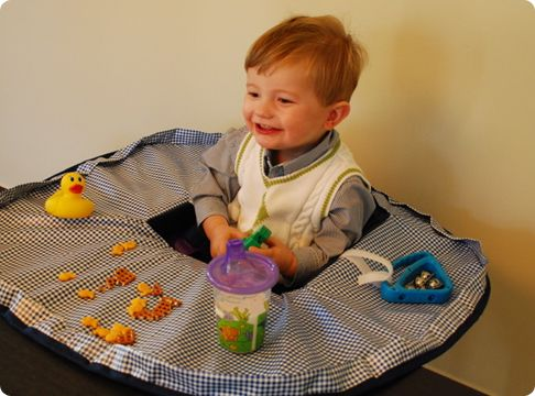 Neatnik Saucer High Chair Cover Baby Placemat Toy Food