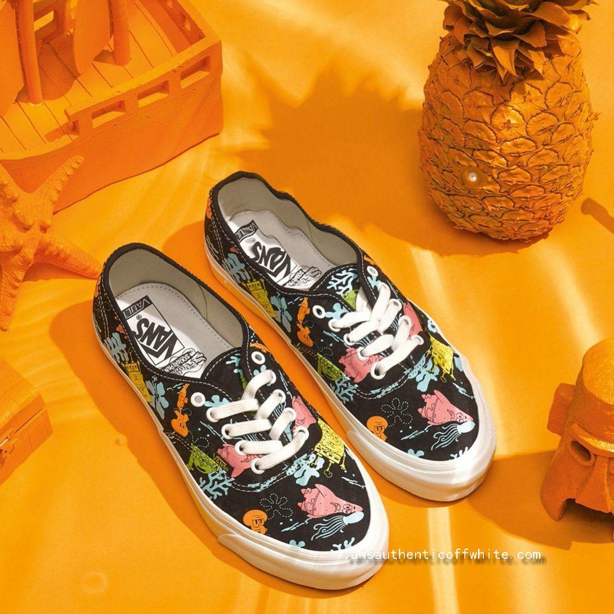 17fa91917e Official Vans Vault x SpongeBob OG Authentic LX Aloha Blue Skate Shoe For  Sale-www.vansauthenticoffwhite.com