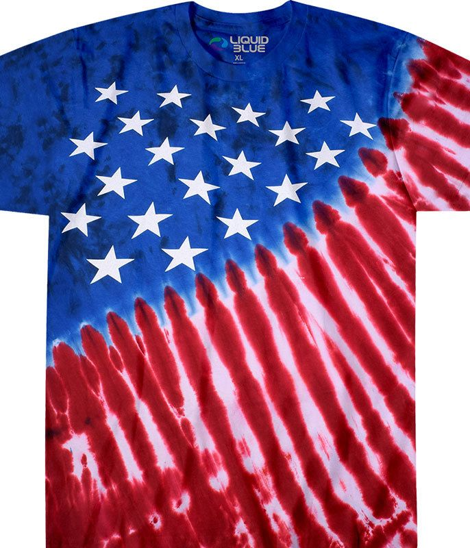 American Flag Star Red White and Blue USA Pride Mens T-shirt