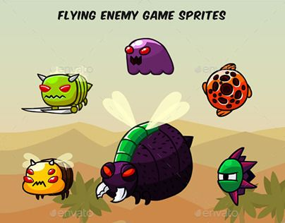 "Check out new work on my @Behance portfolio: ""Flying Enemy Game Sprites"" http://be.net/gallery/50830885/Flying-Enemy-Game-Sprites"