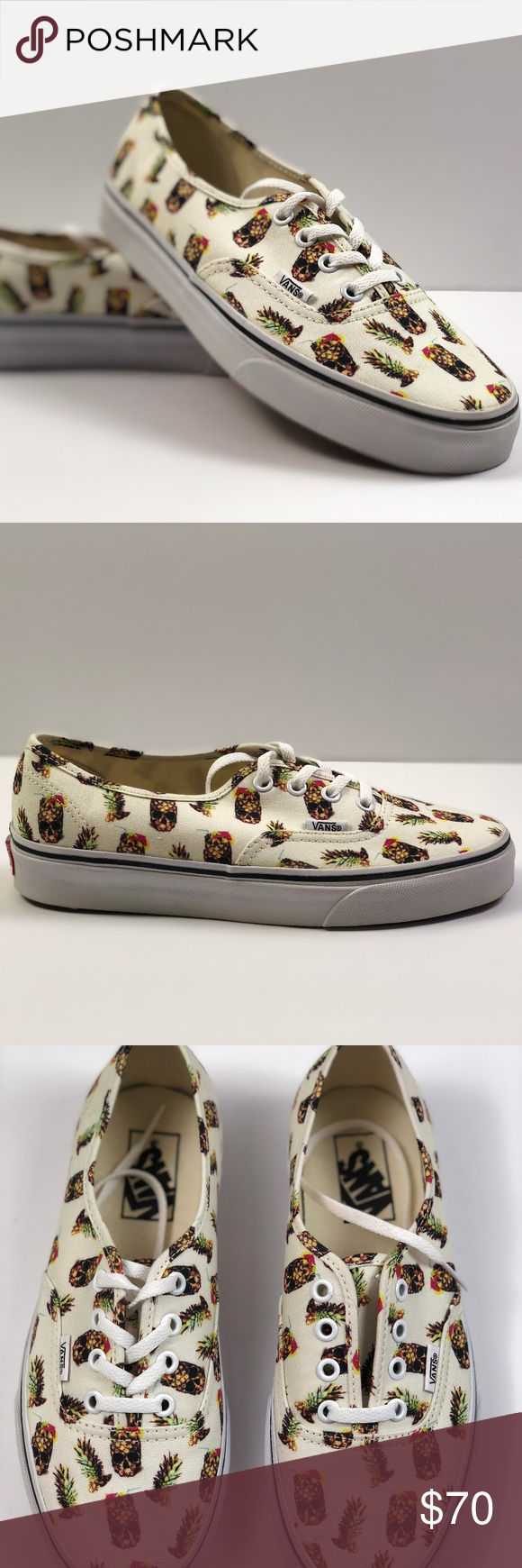 92a373e07b55 Vans Authentic Drained and Confused White. Condition  New with box. Size   Women s 7.5