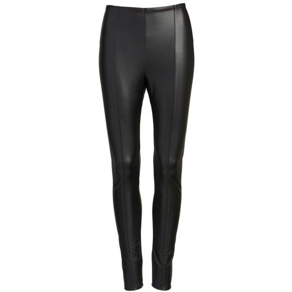 Women's Lysse High Waist Faux Leather Leggings (€52) ❤ liked on Polyvore featuring pants, leggings, high waisted trousers, high-waist trousers, high waisted faux leather leggings, stretch leggings and faux leather leggings