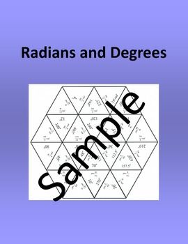 Radians and Degrees  Math puzzleIve included three different sizes of the same puzzle. The smaller size is only three pages and is great if you are going to print of individual copies for students to practice in class or at home. The larger size requires 8 pieces of paper and quite a bit of space to solve  fun for centers and group work.