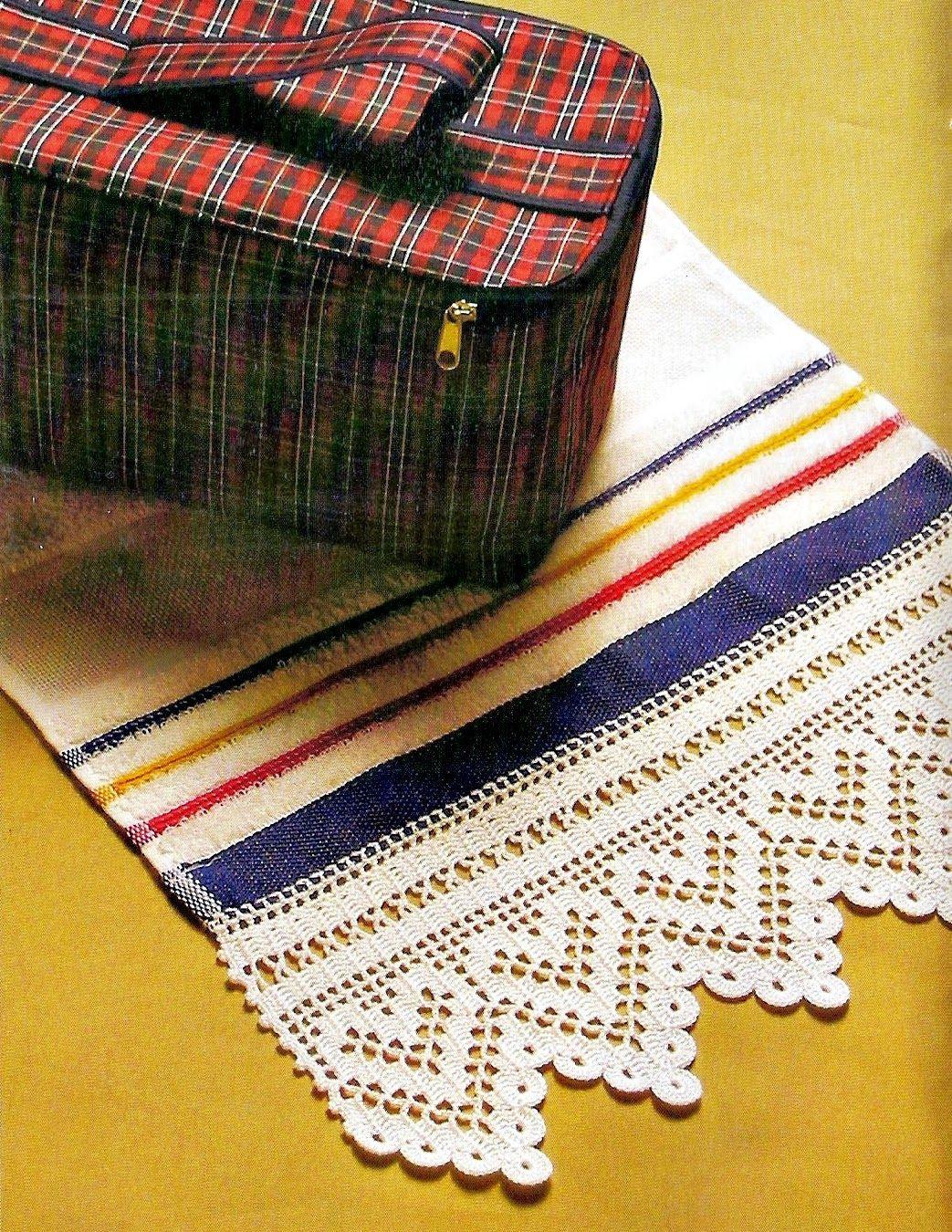 Toalha De Lavabo Com Barrado De Croche Em Croche Com Receita