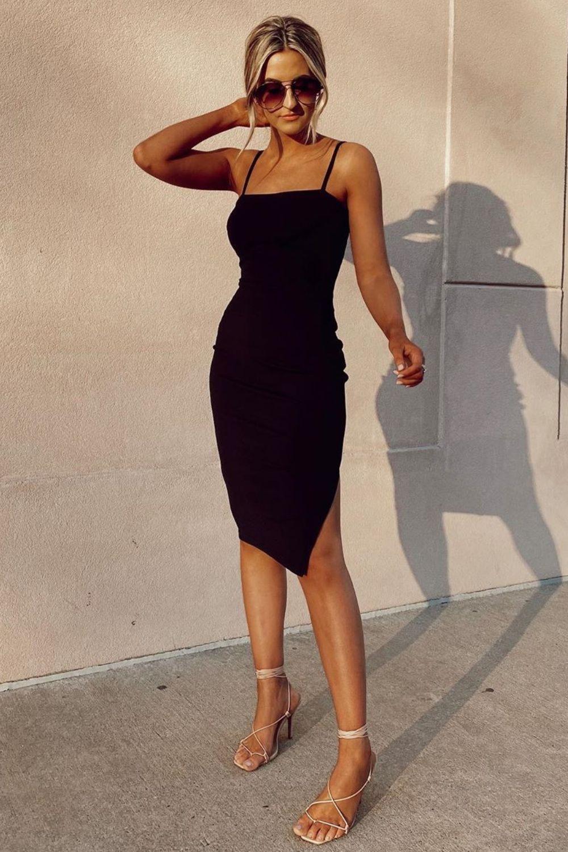Paulina Black Bodycon Midi Dress Midi Dress Bodycon Black Dresses Classy Little Black Dress Classy [ 1500 x 1000 Pixel ]