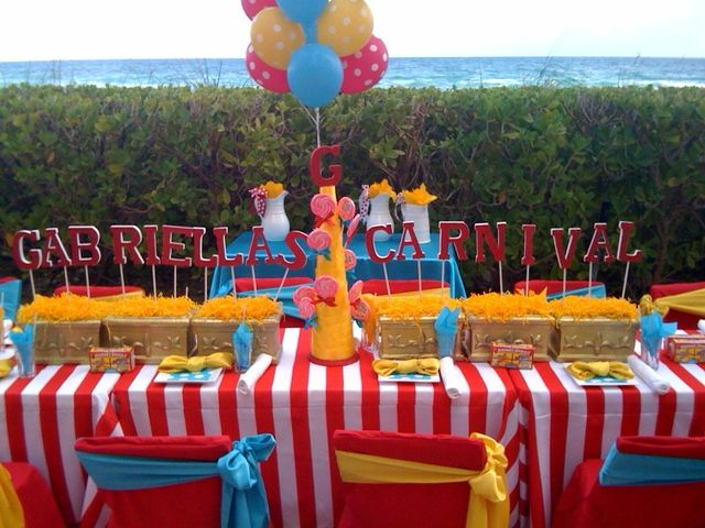 Carnival Party Table Carnivaltable Carnival Birthday Parties Carnival Birthday Party Theme Circus Theme Party