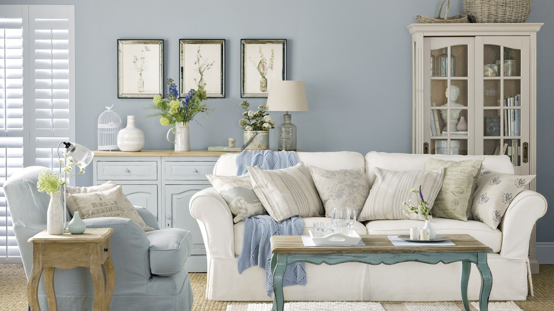 Pale Blue Country Boutique Living Room The Room Edit Shabby Chic Living Room Shabby Chic Living Room Design Shabby Chic Living Room Furniture #shabby #chic #decorating #ideas #living #room