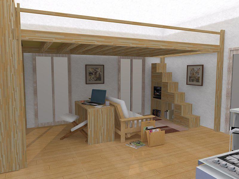 Soluzione Soggiorno Yen - Yen Wohnzimmer Solution (3) Dorm - bett im wohnzimmer