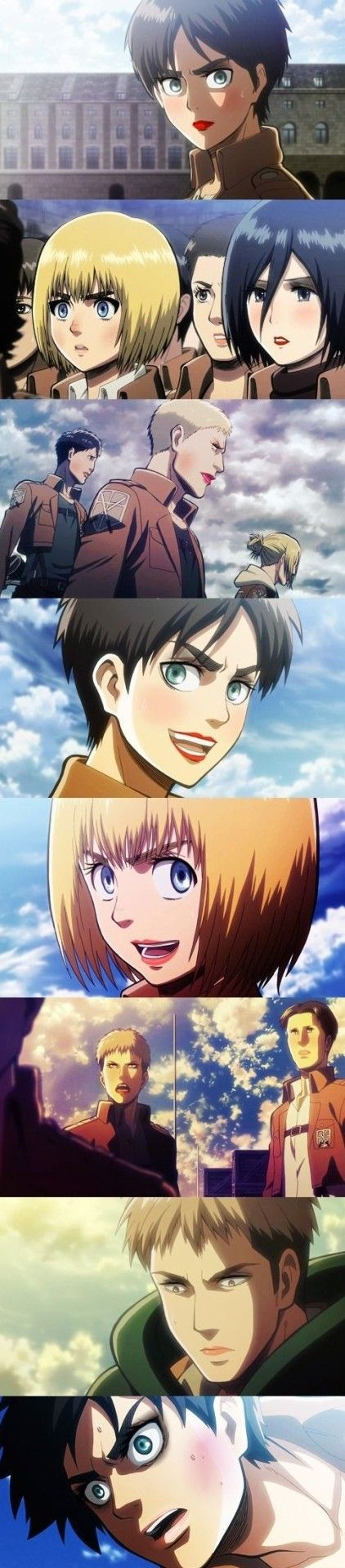 Armin looks like a girl even more now... lol you can still