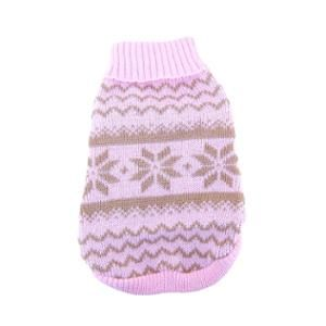 Pink Snowflake Sweater For Puppy Dog - Medium - for Harley