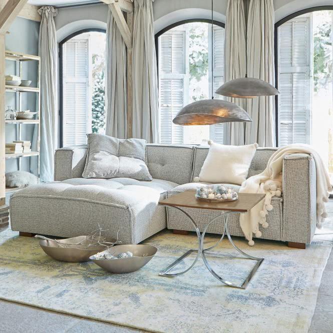 Sofa Galdana Grau Shop Landhaus Look Wohnen Dekor Haus Deko