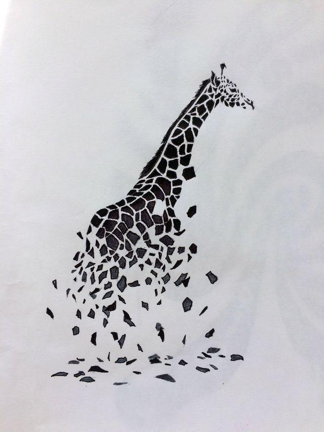 Боди арт сексуального жирафа