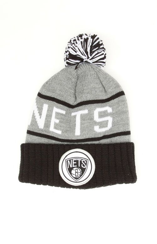 separation shoes ca162 9394f Baseball Mitchell and Ness NBA San Antonio Spurs 2 Tone Cuffed Knit Pom  Beanie Cap with ...
