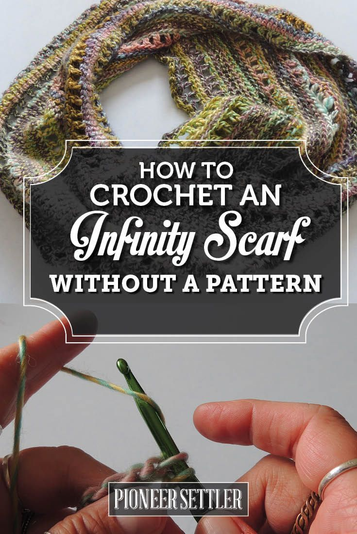 How to Crochet an Infinity Scarf With No Pattern | Tücher, Schals ...