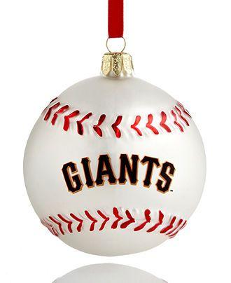 Kurt Adler Christmas Sports Ornament, Giants Glass MLB Baseball - All Christmas  Ornaments - Holiday Lane - Macy's - Kurt Adler Christmas Sports Ornament, Giants Glass MLB Baseball
