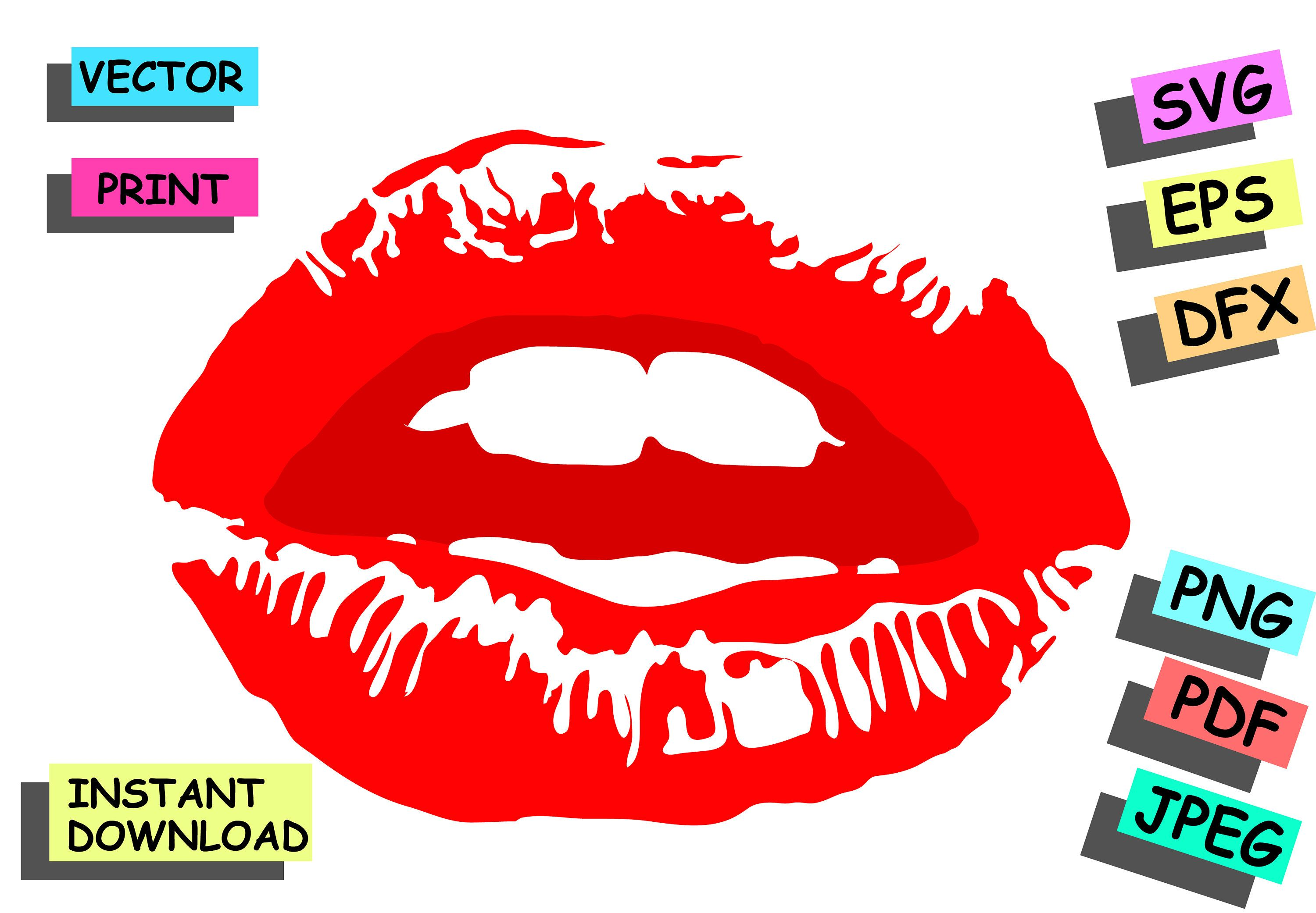 Red Lips Svg Vector Files Dxf Svg Eps Jpg Png Pdf Red Lips