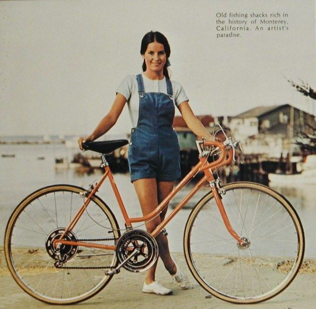 70s Monterey California Girl S Fashion Overalls Schwinn Bicycle