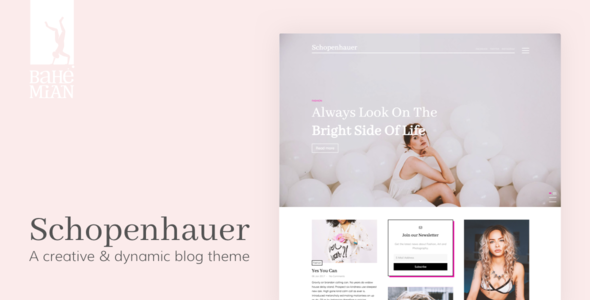 Schopenhauer - A creative & dynamic Blog Theme | Wordpress, Template ...