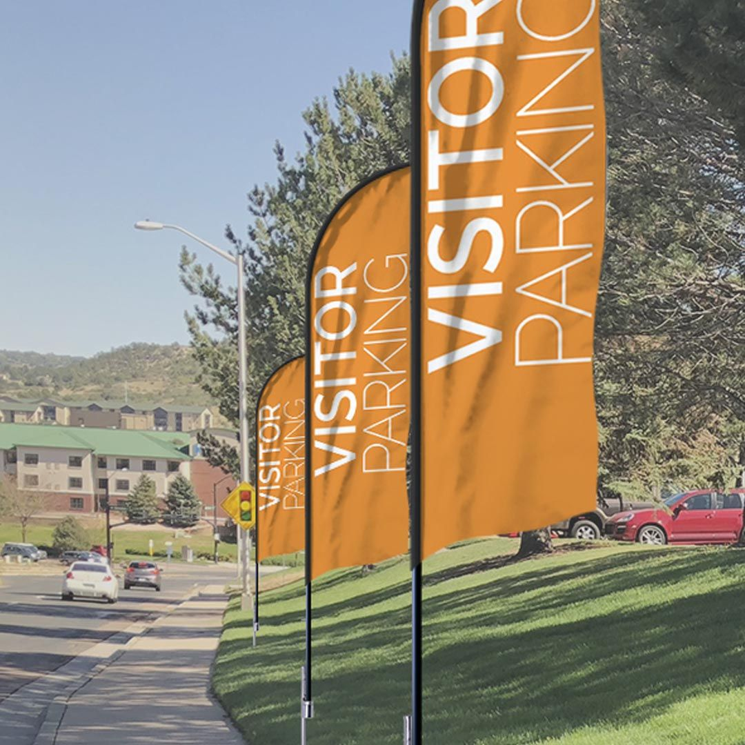Visitor Parking Orange Banner Outreach In 2020 Church Outdoor Outdoor Flags Church Banners
