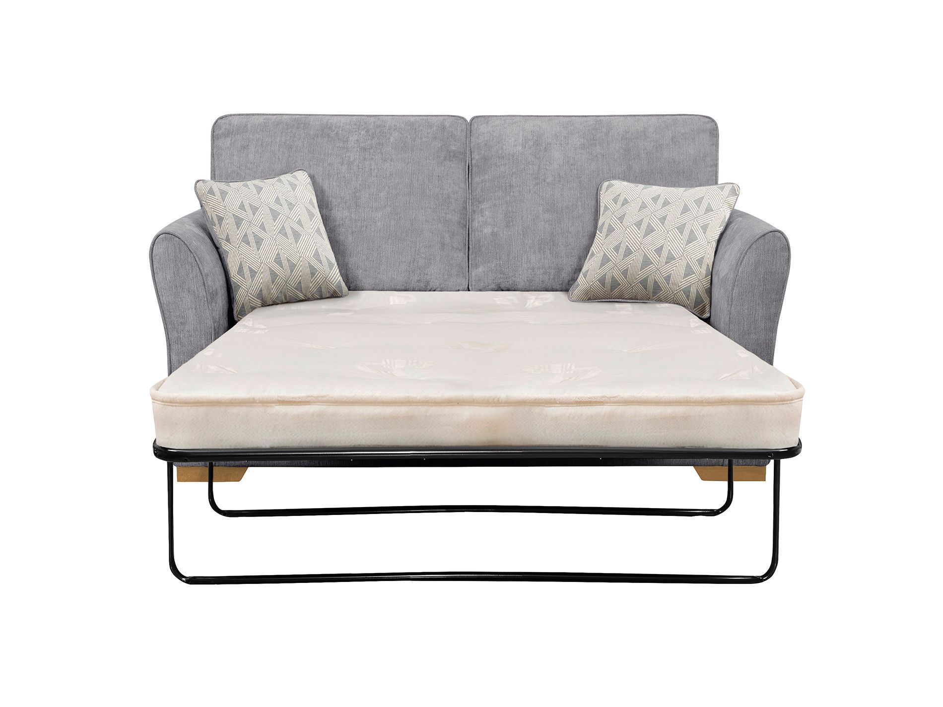 Pewter Sofa Bed Knislinge Review Leather Jasmine 2 Seater With Deluxe Mattress In Cosmo