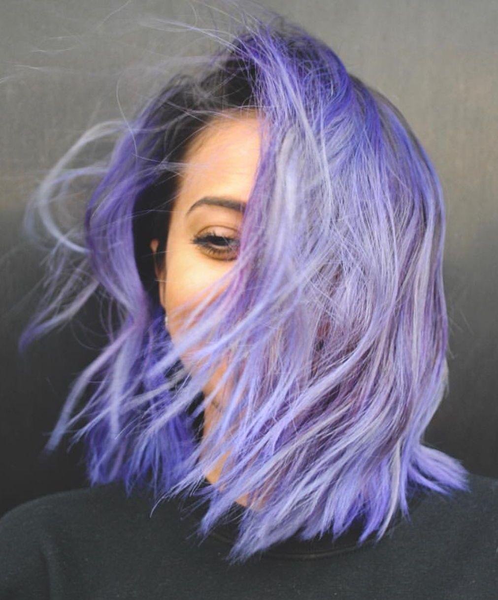 Gorgeous vibrant purple hair color purplehair haircolor