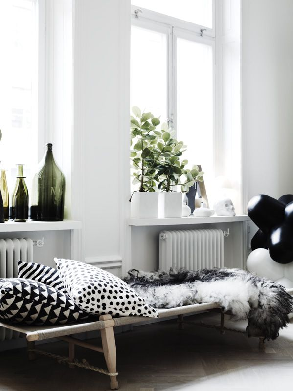 Lotta\u0027s beautiful black and white home living room Pinterest