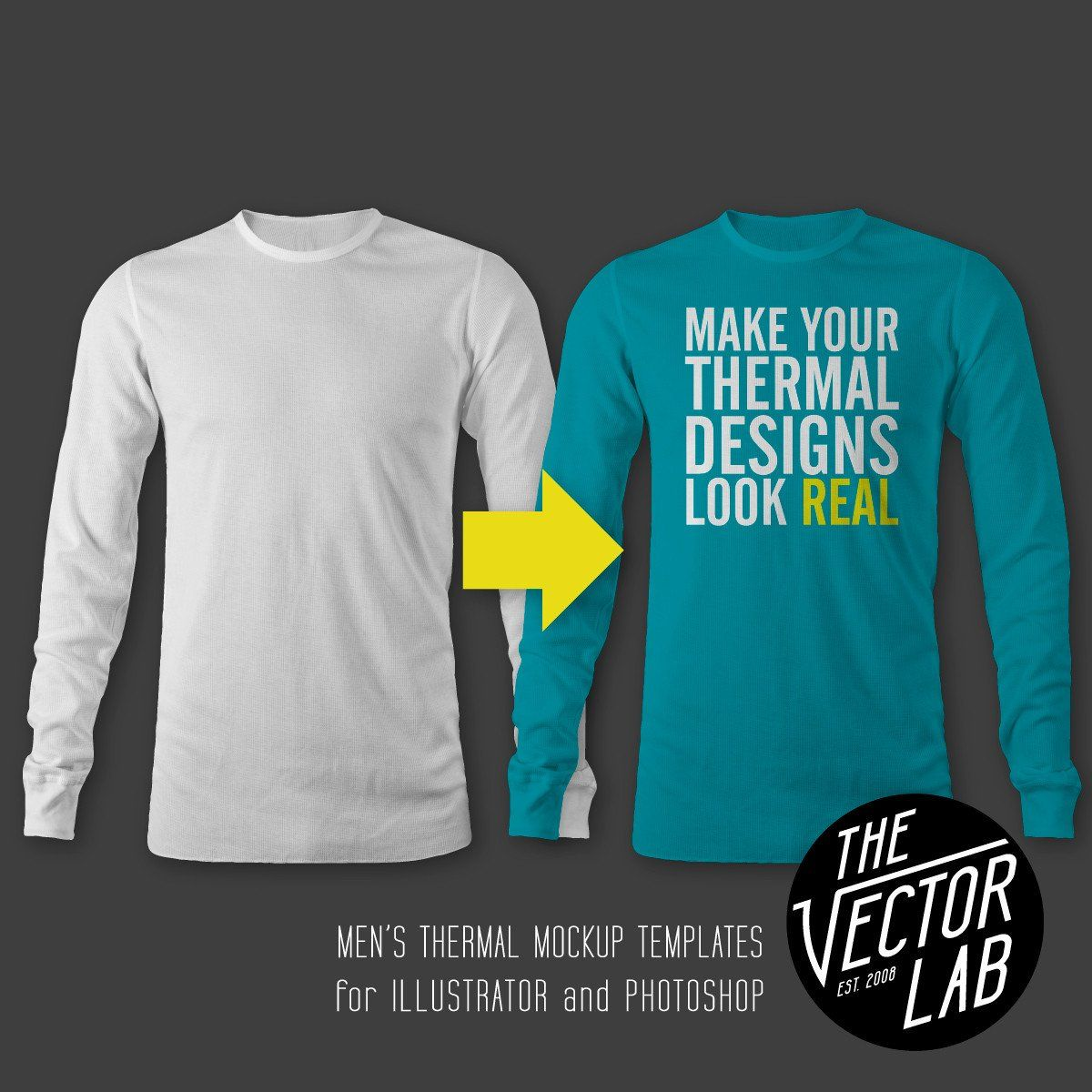 Download Men S Thermal Mockup Templates T Shirt Design Template Mockup Templates Mens Thermals