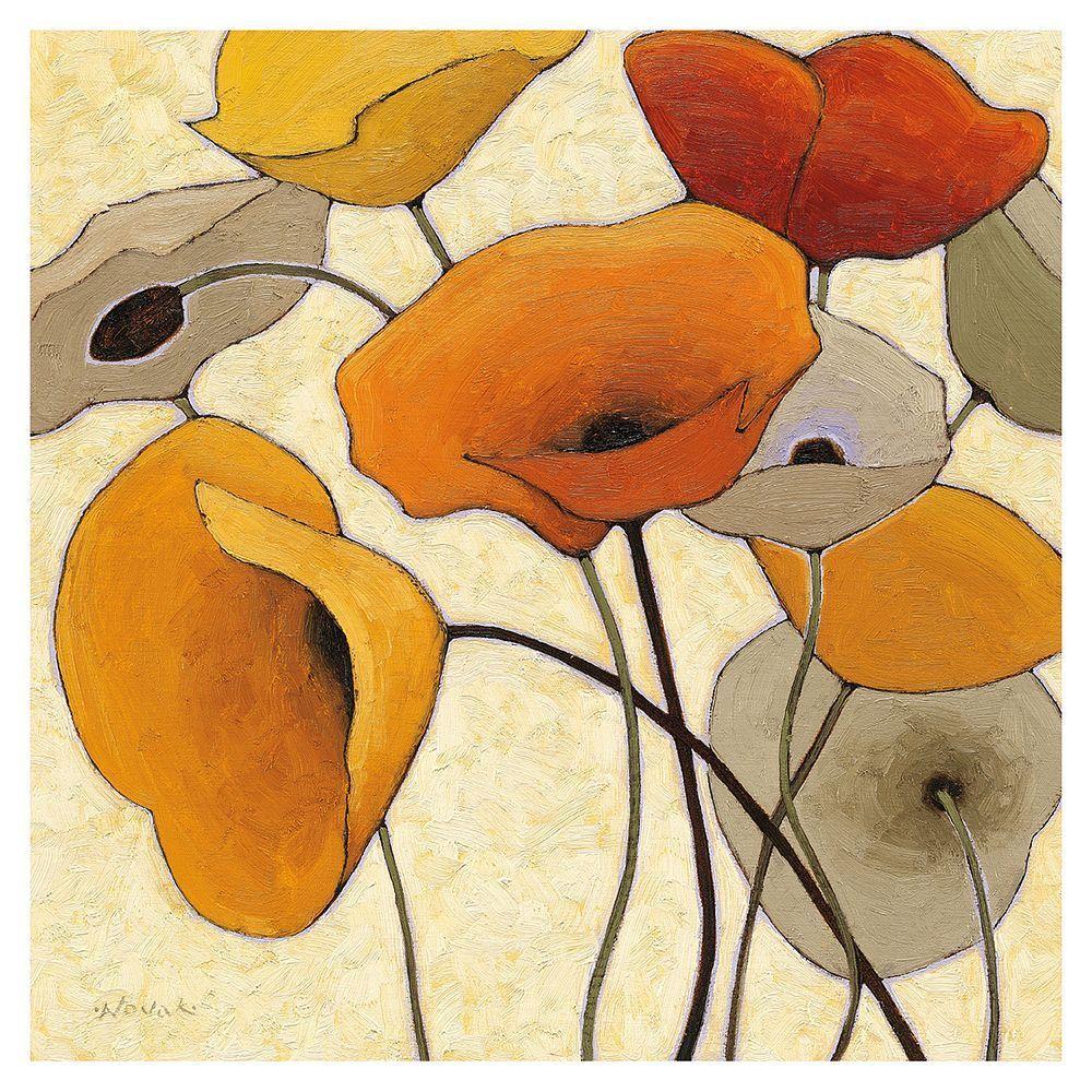 Art.com Pumpkin Poppies III Wall Art Print | Products