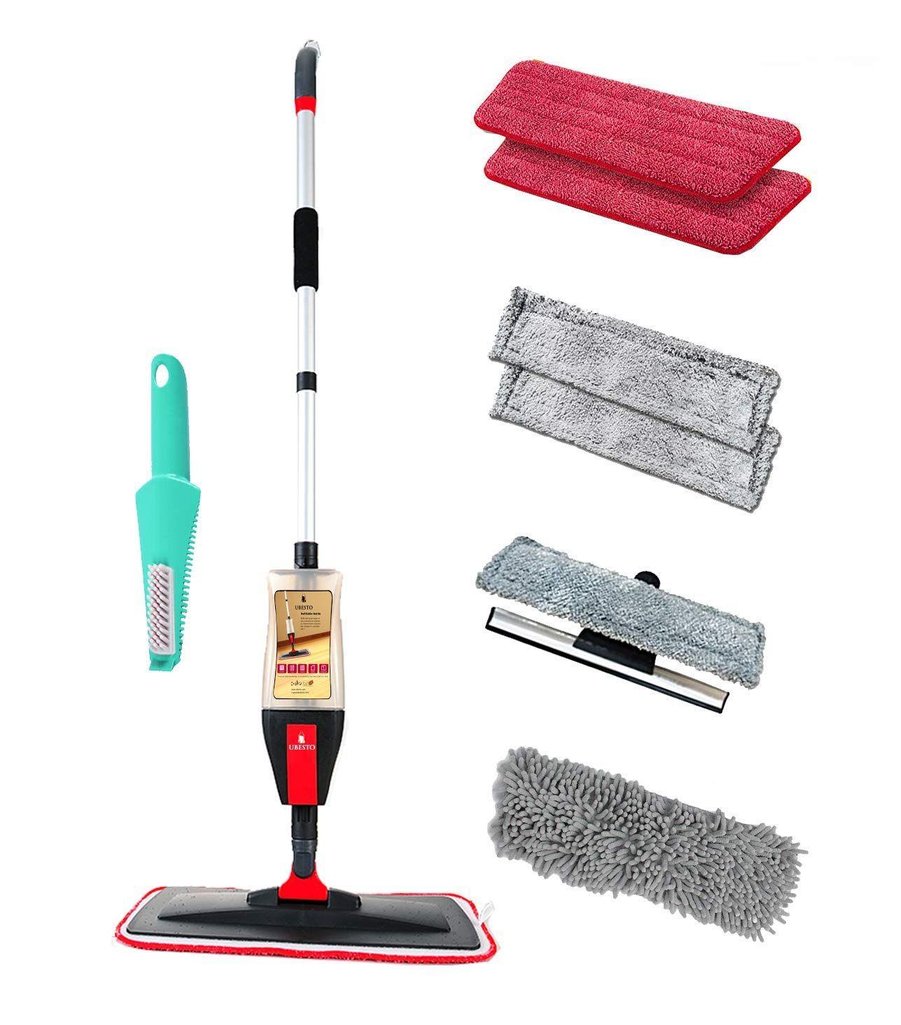 Spray Mop Kit With 4 In 1 Function Floor Mop Set For Vinyl Hardwood Laminate Marble Tile Floors 7 Accessories 2 M Laminate Flooring Laminate Spray Mops