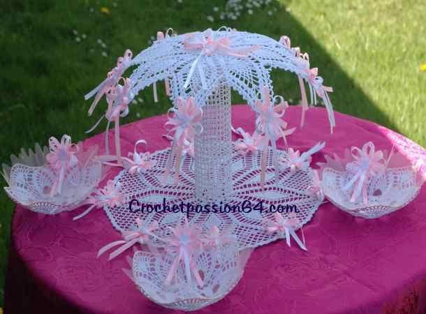 crochet decoration miniature au crochet support pour. Black Bedroom Furniture Sets. Home Design Ideas