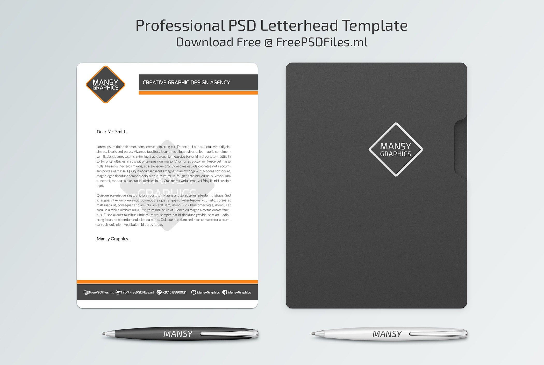 Professional Letterhead Psd Template  Free Psd Files  Free Psd