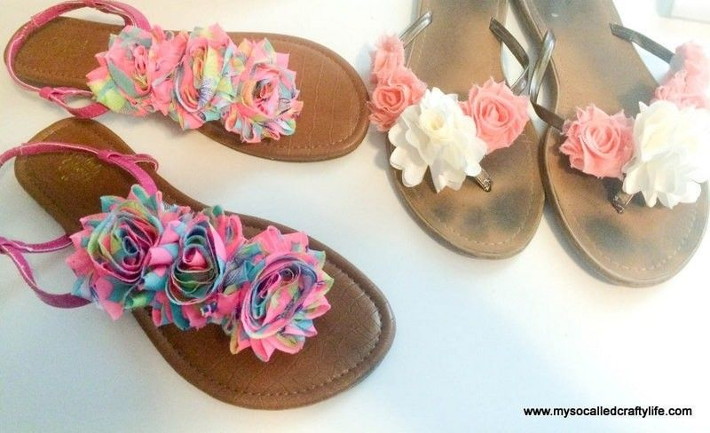 8a8ba0cb8dacc How to make a sandal   flip flop. Easy Diy Floral Summer Sandals - Step 11
