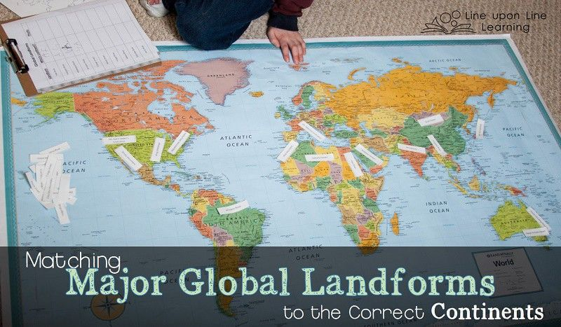 Matching global landforms to continents geography and school my son had to match the global landforms to the correct continents on our world map gumiabroncs Images