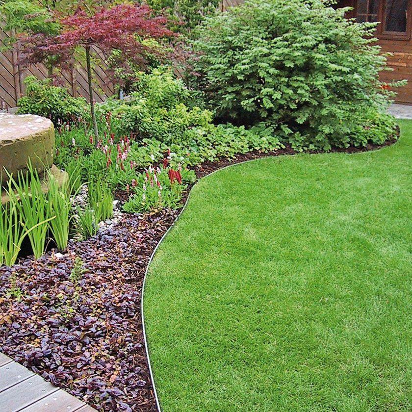Metallprofil Als Rasenkante Garten Garten Pflanzen Rustikaler Garten