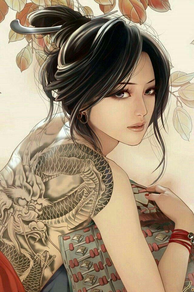 Épinglé sur Femme samouraï