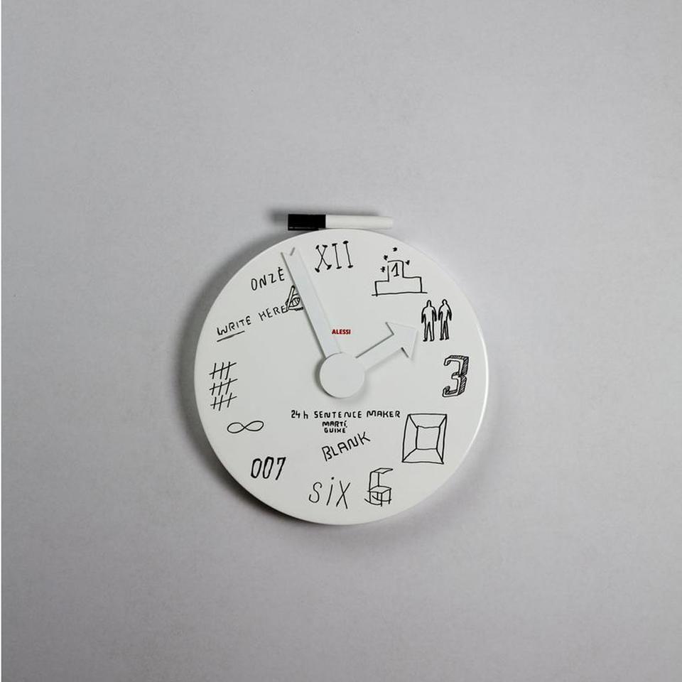 Mgu02 1 Blank Wall Clock Marti Guixe For Alessi Clocks Home Office Accessories Soggiorno