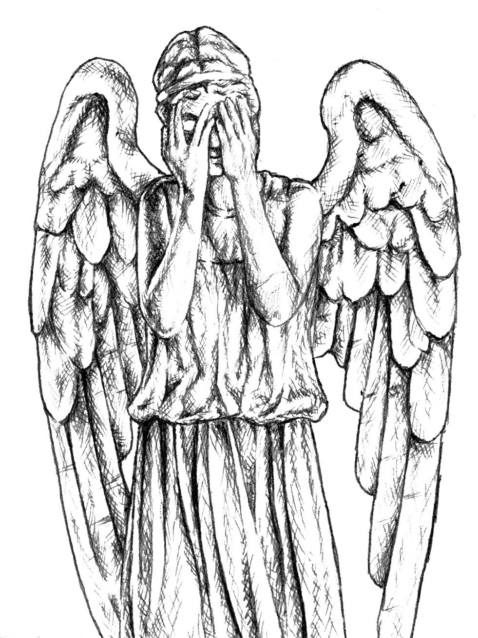 doctor who weeping angels sketches projects to try pinterest