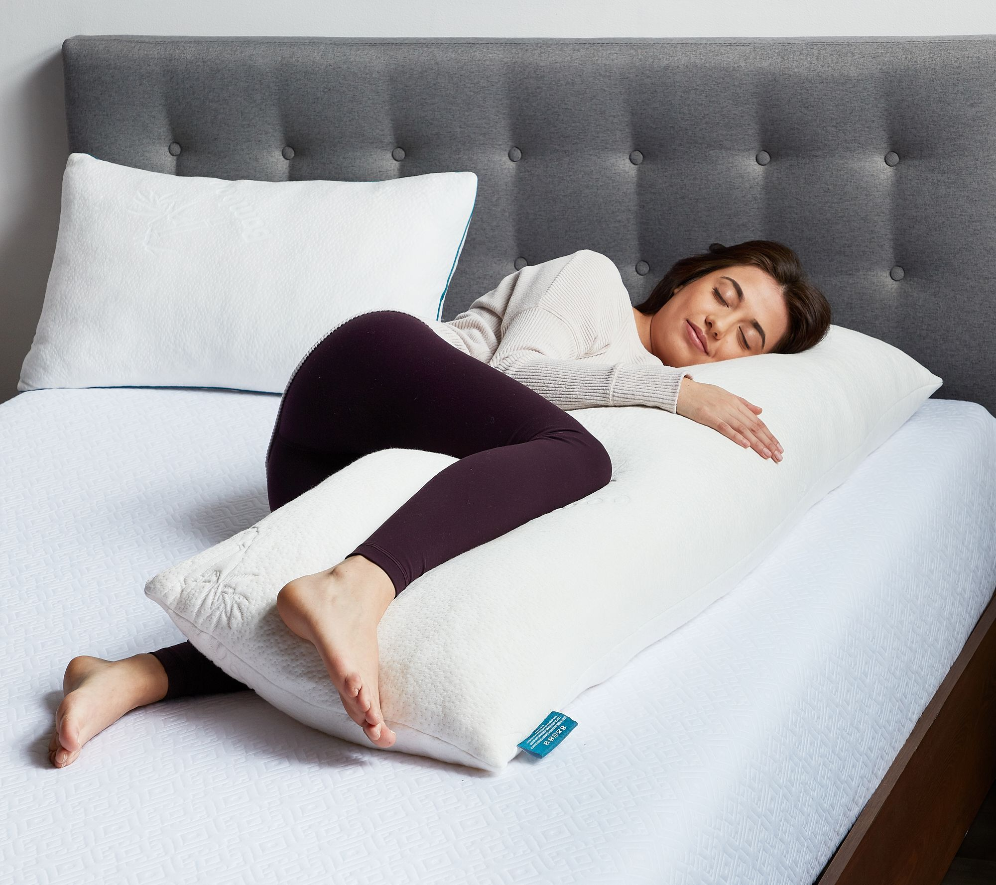 Lucid Comfort Collection Shredded Memory Foam Body Pillow Qvc Com In 2021 Body Pillow Memory Foam Body Pillow Pillows