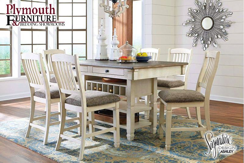 Antique White 7 Piece Dining Room Set Ashleyfurniture Farmhouse Diningroomfurniture Rustic Dining Room Sets Counter Height Dining Table Dining Room Server