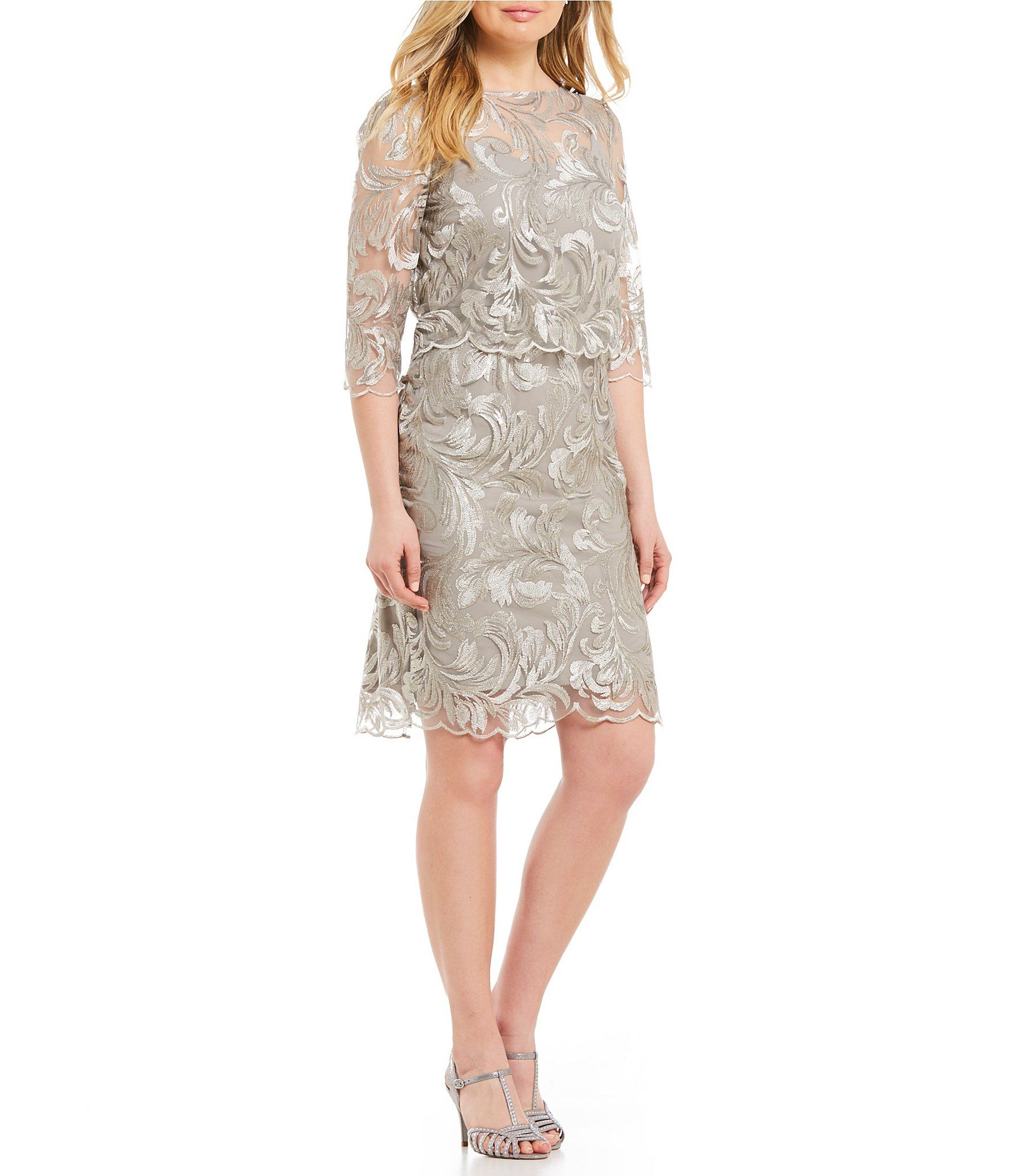 1b1675fd05 Brianna Embroidered Sequin Popover Dress  Dillards