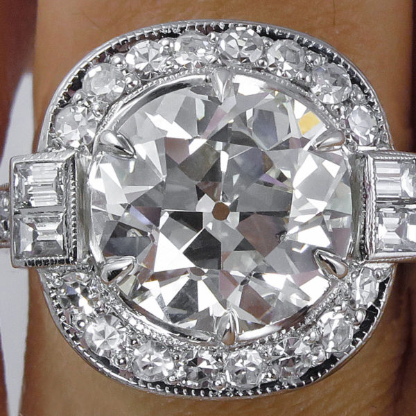 Buy 1 5 Carat Moissanite Halo Engagement Ring Free Shipping In 2020 Art Deco Ring Art Deco Jewelry Deco Jewelry