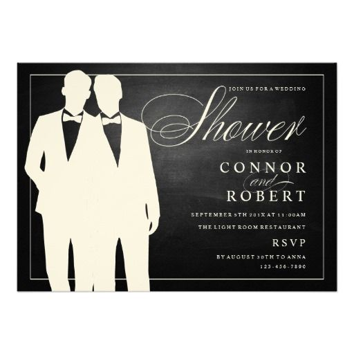 Invitations for a gay couple