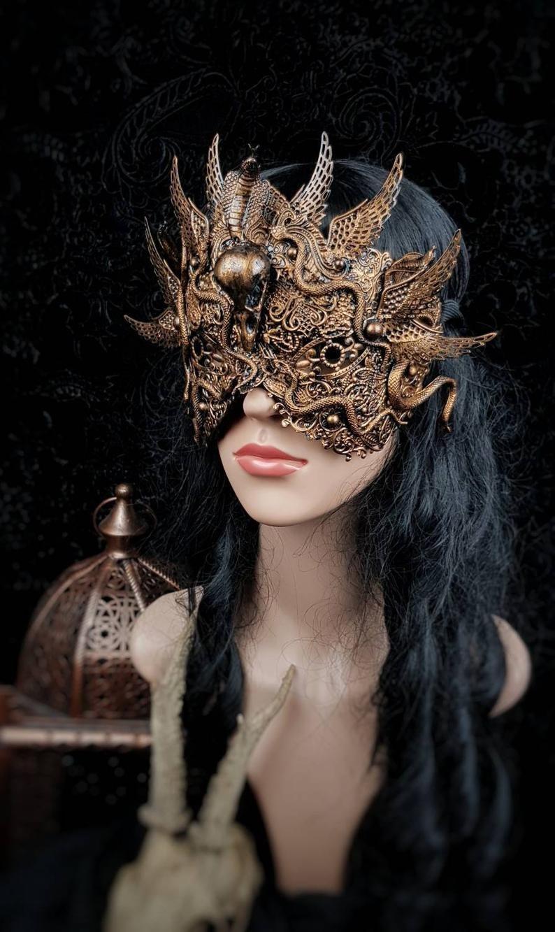 """Blind mask """"Snake/ Phoenix Warrior"""" , Medusa Mask, Medusa"""