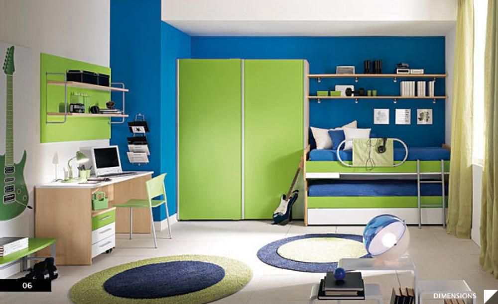 Spring Fresh 20 Great Uses Of Green From Our House Tours Cool Boys Room Colorful Kids Room Kids Room Lighting