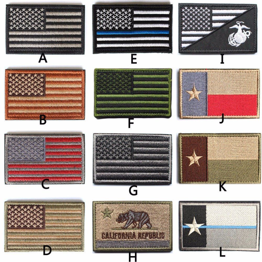 41060855d09 Tactical American USA Thin blue line law enforcement Texas Lonely Star  Marine Corps Usmc Black Ops Flag Embroidered Patch